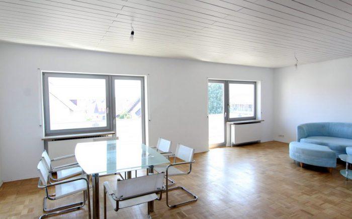 Eigentumswohnung Gundelsheim Esszimmer und Wohnzimmer